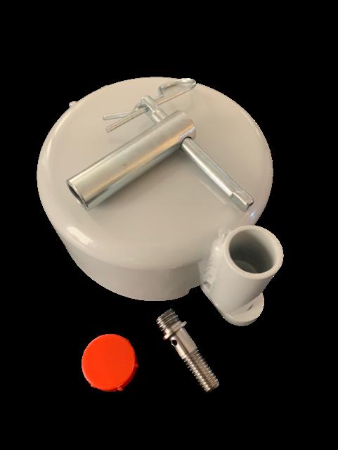 Zabezpieczenie zbiornika paliwa Ø80 na śrubę