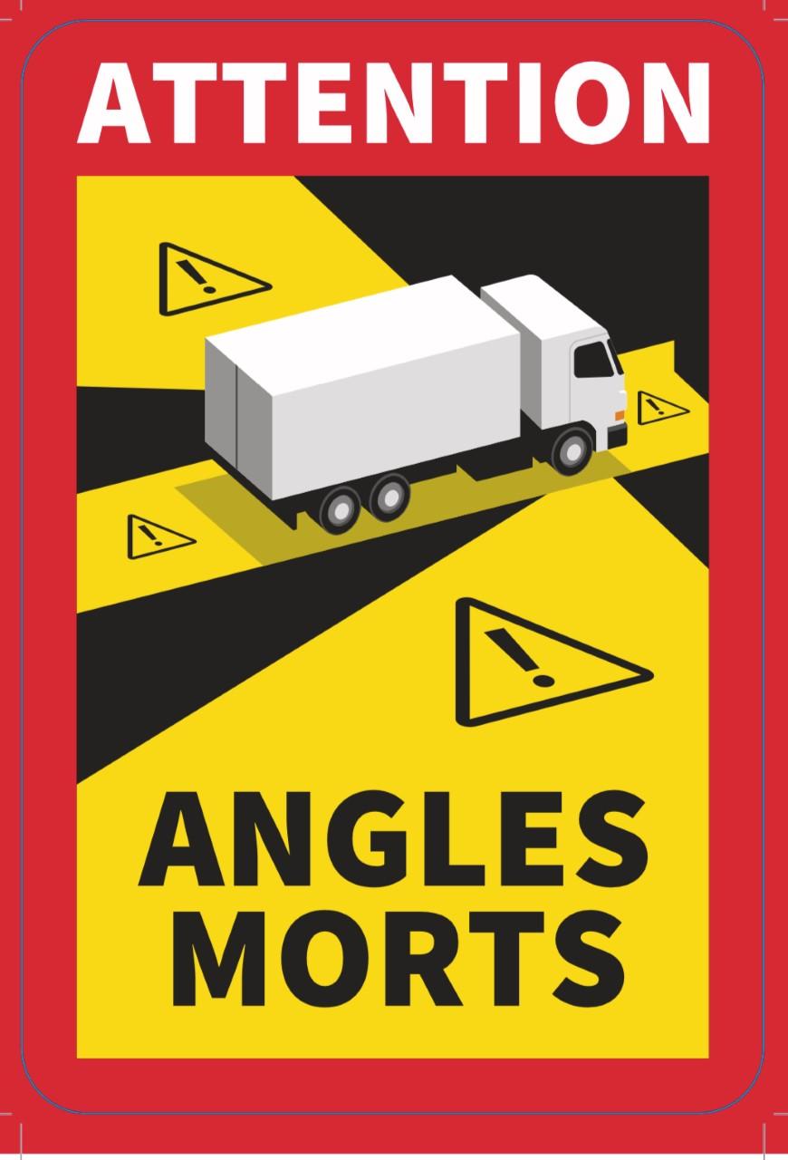 Naklejka Angles Morts z materiału plandekowego 500 g/m2